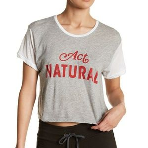NWT WILDFOX GRAPHIC TEE SIZE L ACT NATURAL